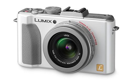 Panasonic Lumix LX5 - front - white
