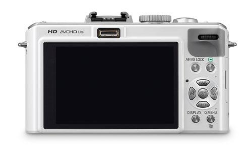 Panasonic Lumix LX5 - rear LCD - white
