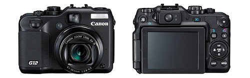 Canon PowerShot G12 digital camera - front and back