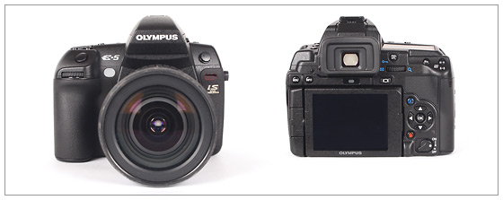 Olympus E-5 DSLR - front and back