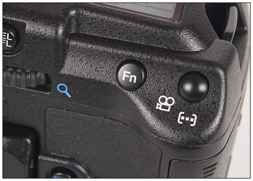 Olympus E-5 movie button