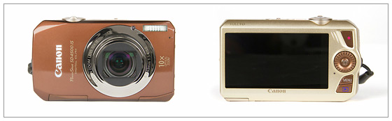 Canon PowerShot SD4500 IS / IXUS 1000 HS - front & back