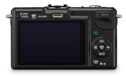 Panasonic Lumix GF2 - rear / LCD