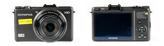 Olympus XZ-1 digital camera - front and back