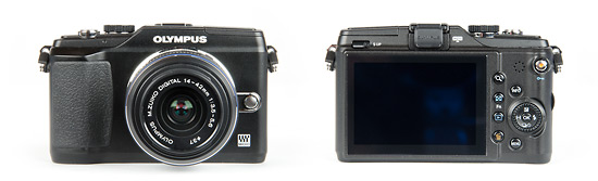 Olympus E-PL2 Pen Camera - front and back