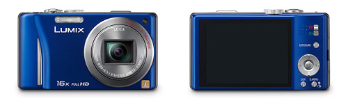 Panasonic Lumix ZS10 pocket superzoom camera - front and back