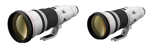 Updated Canon 500mm f/4L IS II and 600mm f/4L IS II super-telephoto lenses