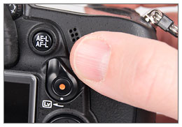 Nikon D7000 - Live View lever / switch