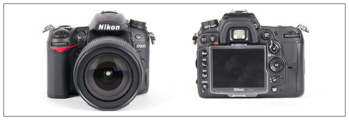 Nikon D7000 - front and back