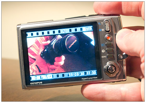 Olympus Tough TG-610 waterproof, shockproof digital camera - rear LCD with video playback