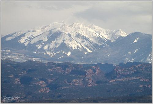 La Sal Mountains, Utah - Olympus E-PL2 and M.Zuiko ED 75-300mm Zoom Lens