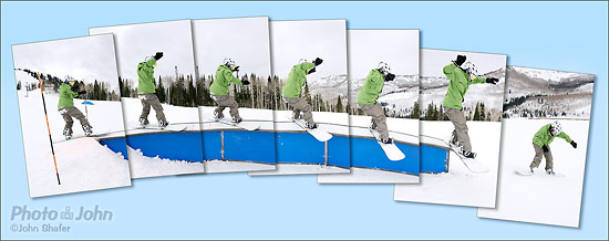 Sony Alpha SLT-A55 - Snowboard Action Sequence
