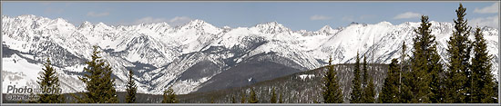 Vail Panorama shot with the Olympus E-PL2 and 75-300mm Micro Four Thirds zoom lens