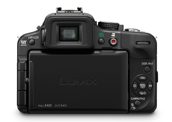 Panasonic Lumix G3 - rear