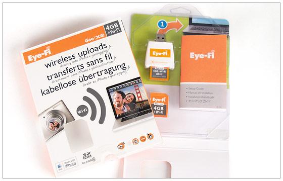 Eye-Fi X2 card box contents