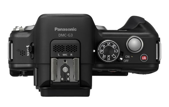 Panasonic Lumix G3 - top