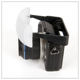 Gary Fong Micro Four Thirds Puffer Pop-Up Flash Diffuser - side view