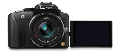 Panasonic Lumix G3 camera with tilt-swivel touch screen LCD display