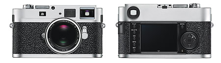 Leica M9-P full-frame rangefinder camera - front and back