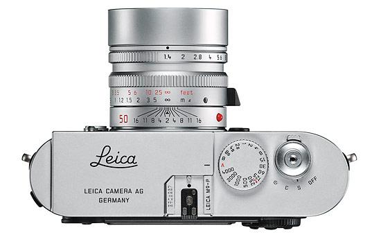 Leica M9-P rangefinder - top