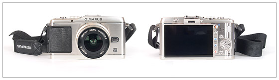 Olympus E-P3 Pen Camera - front and back