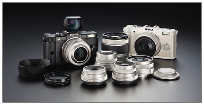 New Pentax Q compact, mirrorless, interchangeable lens camera system