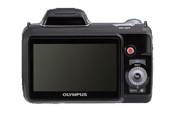 Olympus SP810-UZ - rear LCD display