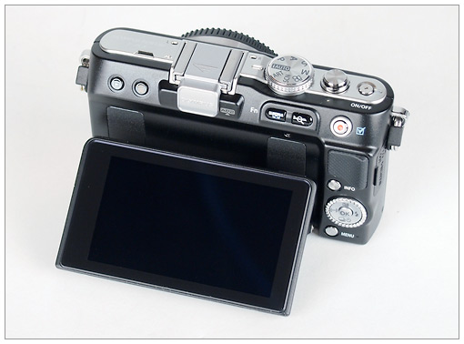 Olympus E-PL3 Pen Camera - new tilting LCD display