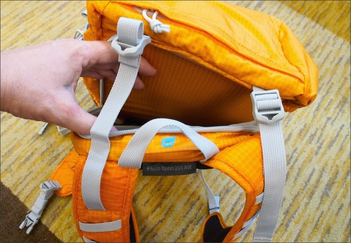 Lowepro Photo Sport 200 AW camera pack hydration compartment