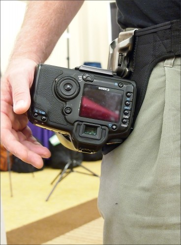 SpiderPro Camera Holster with Canon EOS 5D Mark II digital SLR