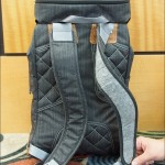 """Felt padding on the shoulder straps of the Clik """"Classic"""" retro-styled rucksack camera pack"""