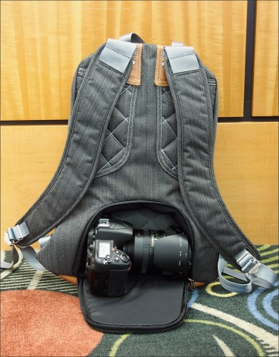 Camera compartment on the bookbag-style Clik Elite backpack