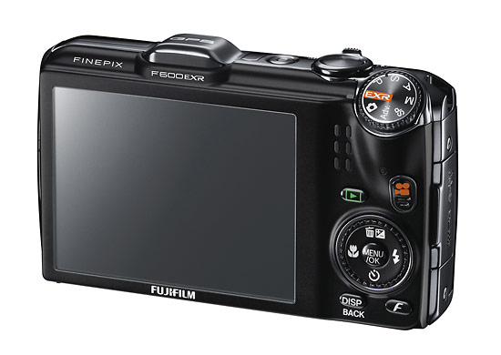 Fujifilm FinePix F600EXR digital camera - rear LCD display