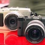 Pentax Q and Olympus E-P3 Micro Four Thirds camera