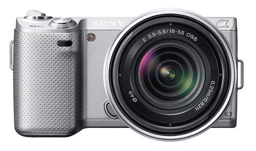 Sony Alpha NEX-5N compact system camera - silver