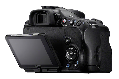 Sony Alpha SLT-A65 - 3-inch tilting LCD display
