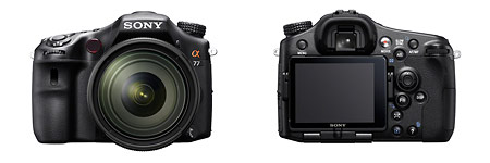 Sony Alpha SLT-A77 - front and back