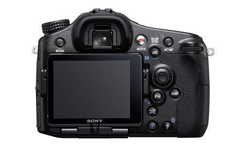 Sony Alpha SLT-A77 - rear LCD display