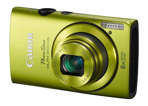 Canon PowerShot ELPH 310 HS digital camera - green