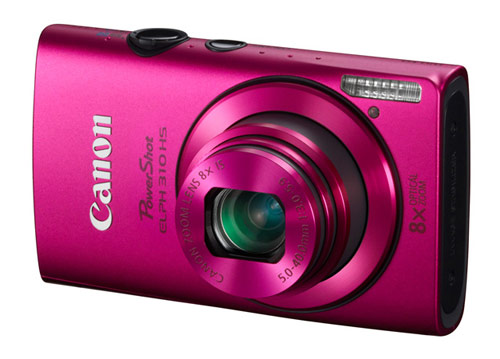 Canon PowerShot ELPH 310 HS digital camera - pink