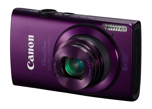 Canon PowerShot ELPH 310 HS digital camera - purple