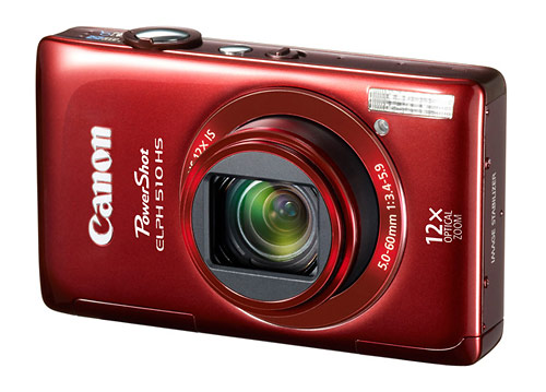 Canon PowerShot ELPH 510 HS pocket superzoom camera - red