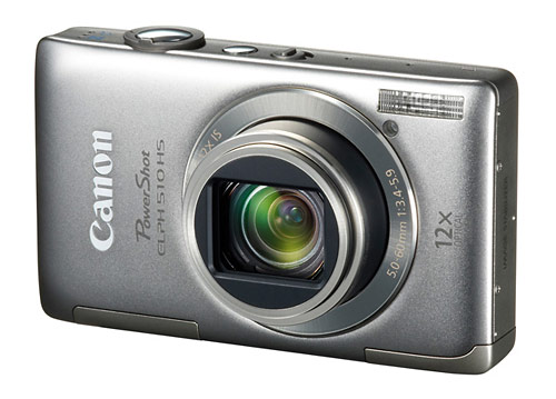 Canon PowerShot ELPH 510 HS pocket superzoom camera - silver