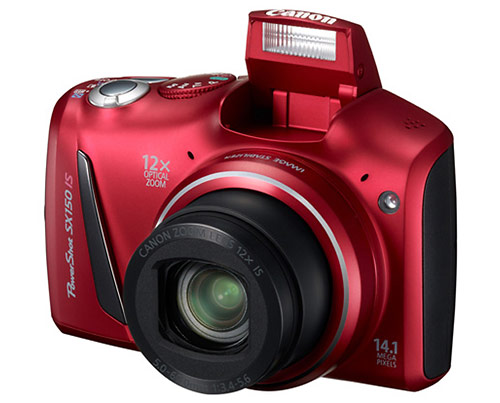 Canon PowerShot SX150 IS digital camera pop-up flash