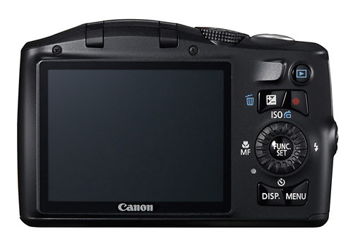 Canon PowerShot SX150 IS digital camera LCD display