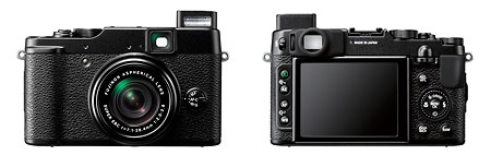 Fujifilm X10 premium compact digital camera - front and back