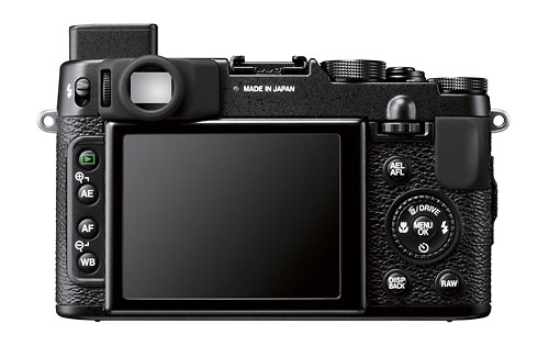 Fujifilm X10  - rear LCD and optical viewfinder