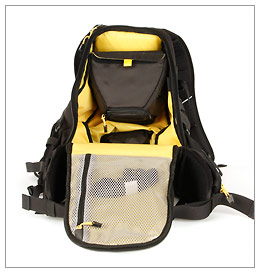 """Mountainsmith Quantum Daypack - main compartment and """"DSLR Holster"""""""