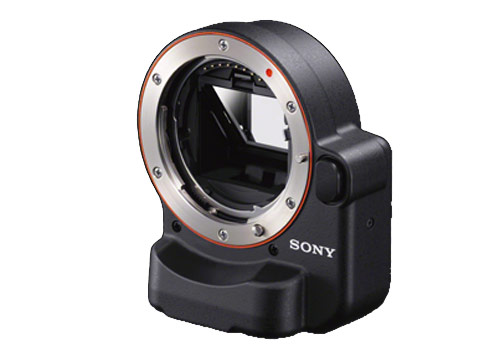 Sony LA-EA2 Mount Adaptor adds transparent mirror technology and phase detect auto focus to NEX cameras