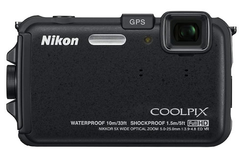 Nikon Coolpix AW100 waterproof digital camera - black